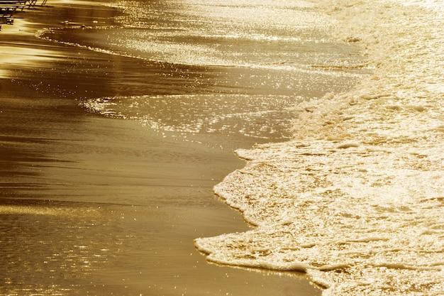 Golden sunset on sea. seascape. toned image.