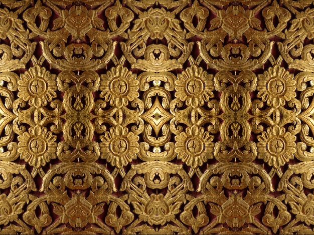 Golden symmetrical decoration