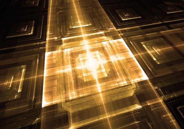 Golden technology background