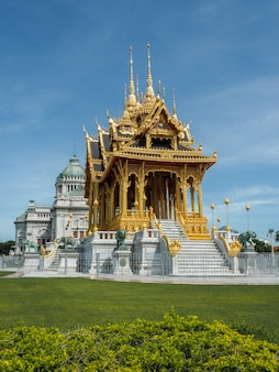 A golden temple in the royal residence in thailand
