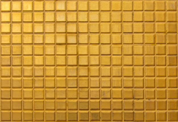 Golden tile for texture background