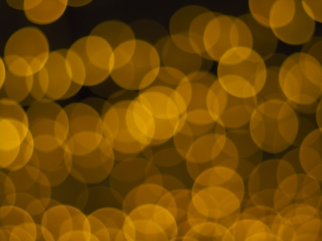 Golden xmas bokeh background