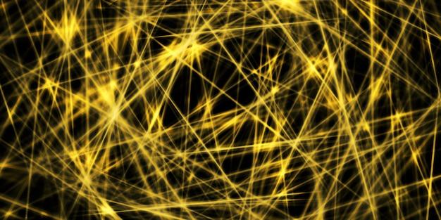 Золотисто-желтое свечение прямая линия контрастный треугольник фоновое изображение 3d иллюстрации