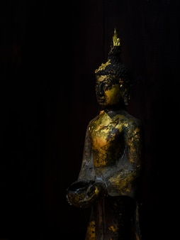 The gole buddha statue