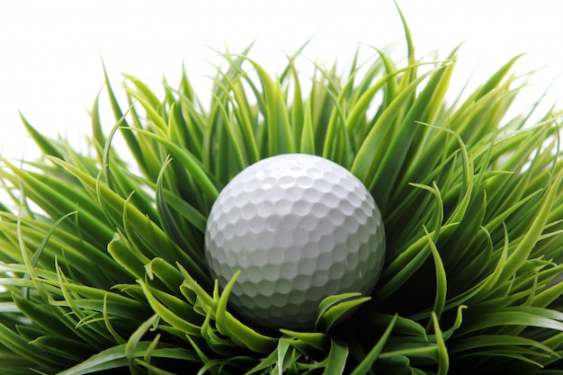 Golf ball in grass