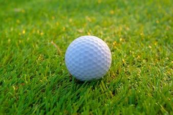 コース上のゴルフボール