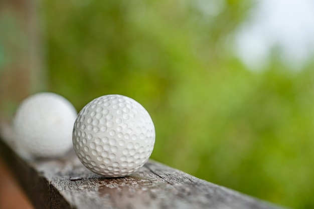 Golf ball with sea view