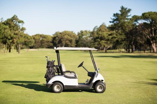 Golf buggy on golf course