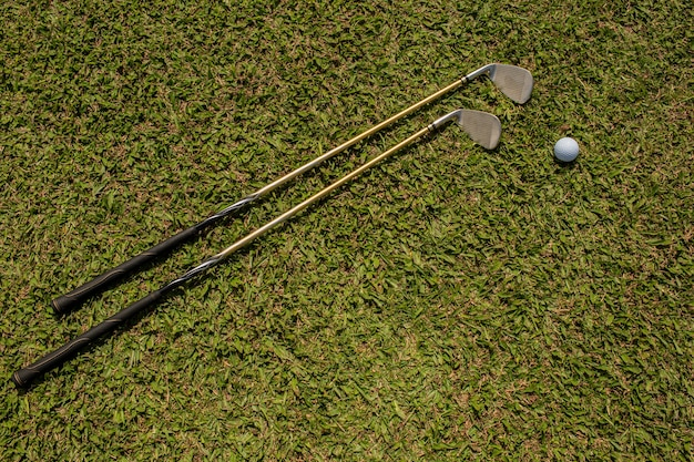 Golf clubs and balls. bali. indonesia.