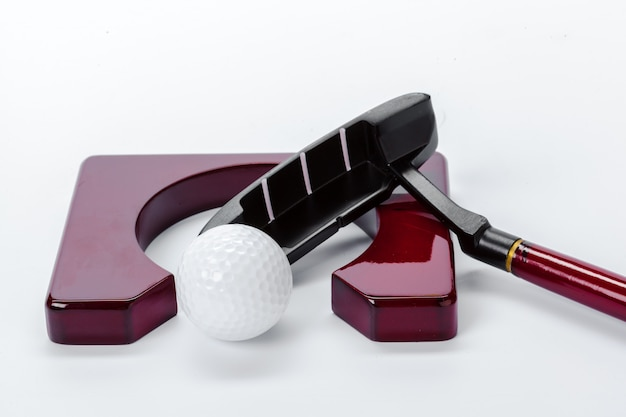 Golf equipment isolated on white