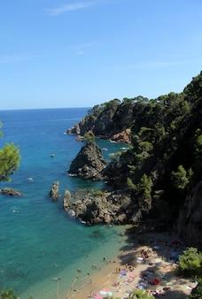 カレーリャデパラフリュージェル、コスタブラバ、ジローナ、スペインのエルgolfetビーチ