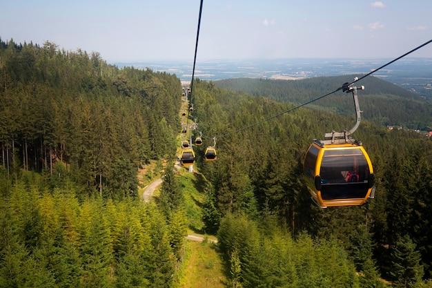 Гондольный подъемник в польских горах