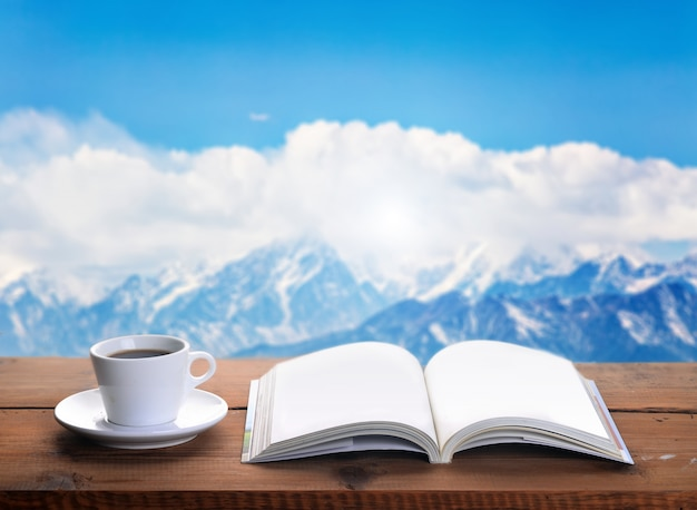 A good book to enjoy the cup of coffee
