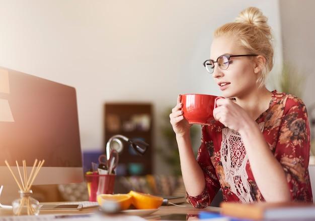 Хороший кофе, чтобы начать продуктивный день