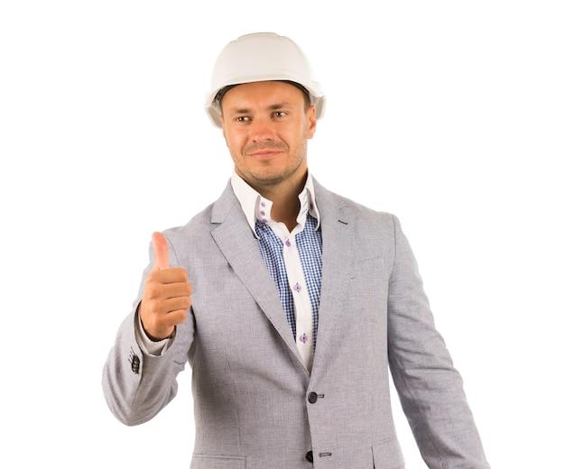 親指を立てる格好良いエンジニア