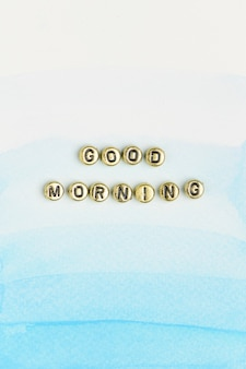 Good morning lettering beads word