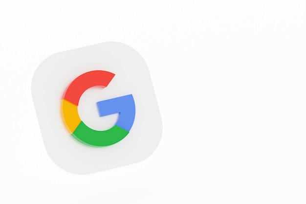 3d-рендеринг логотипа приложения google на белом фоне
