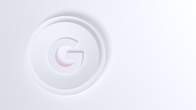 Значок google на белом