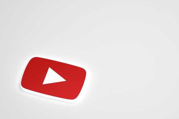 Googleの最小限のロゴの3dレンダリング