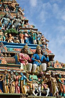 Gopuram (tower) of hindu temple