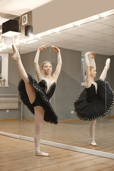 화려한 발레 댄서. 포인트 발레리나.