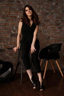 Gorgeous beautiful sexy woman with beautiful long hair