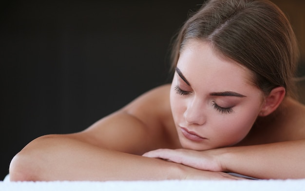 Gorgeous woman in spa