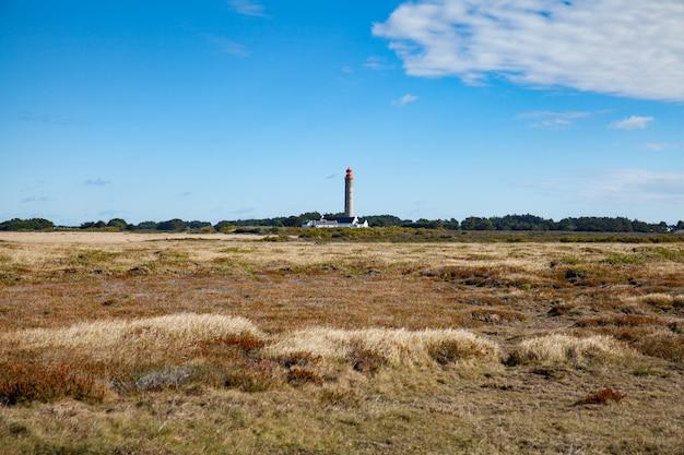 The goulphar lighthouse of the famous belle ile en mer island in france