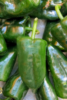 Gourmet green mild chilies food peppers