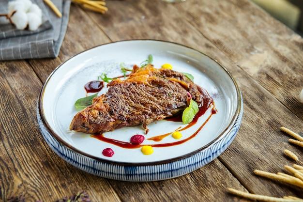 Gourmet grilled beef steak