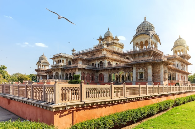 Government central museum of jaipur called albert hall, india.