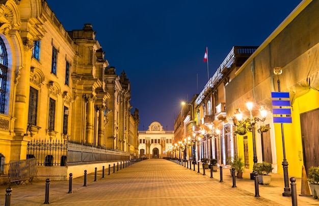 리마에 있는 페루의 정부 궁전