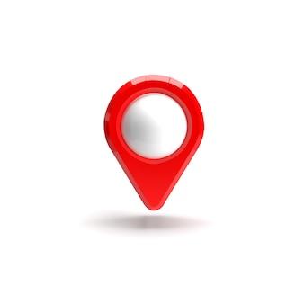 赤いgpsポインター。赤いマップポインター。分離されました。三次元レンダリング。 3 dレンダリング図。