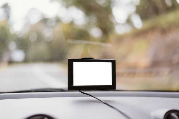 Gps navigation equipment in car