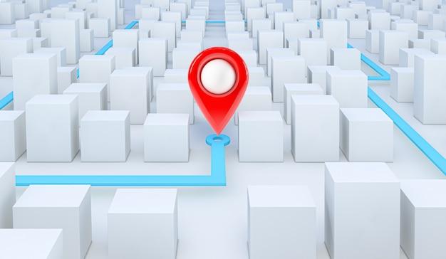 Карта gps-навигации с указанием местоположения