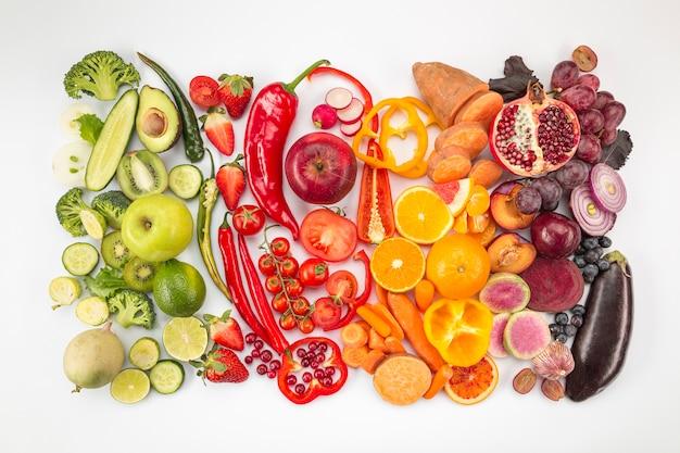 건강 식품의 그라디언트 배열