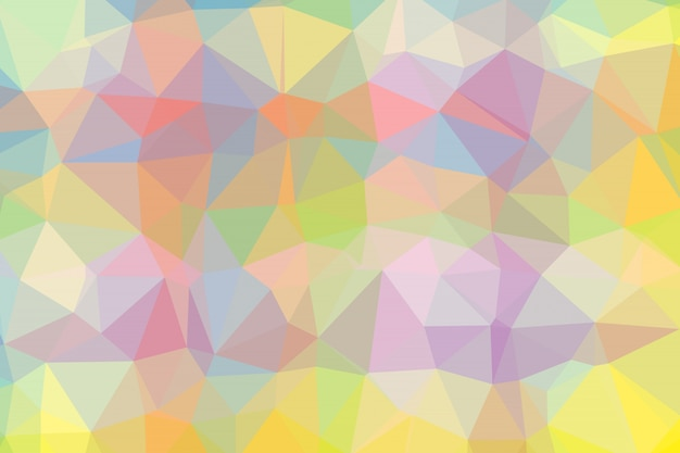 Gradient background with mosaic shape of triangular and square cells of various colors