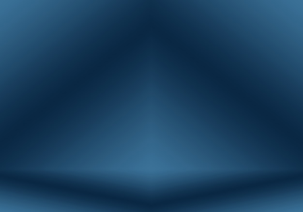 Gradient blue abstract background smooth dark blue with black vignette studio