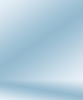 Gradient blue abstract background. smooth dark blue with black vignette studio