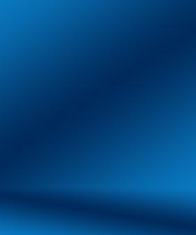 그라데이션 블루 추상적인 배경입니다. 블랙 비네트 스튜디오가 있는 부드러운 다크 블루.
