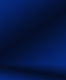 グラデーションブルーの抽象的な背景。ブラックビネットスタジオで滑らかなダークブルー。
