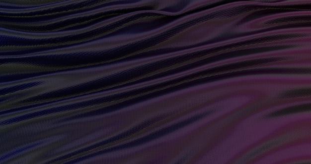 グラデーションの青紫と黄色のシルク生地の背景