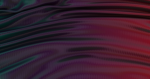 Gradient blue purple and yellow silk fabric background., luxury smooth background, wave silk satin, abstract, 3d render