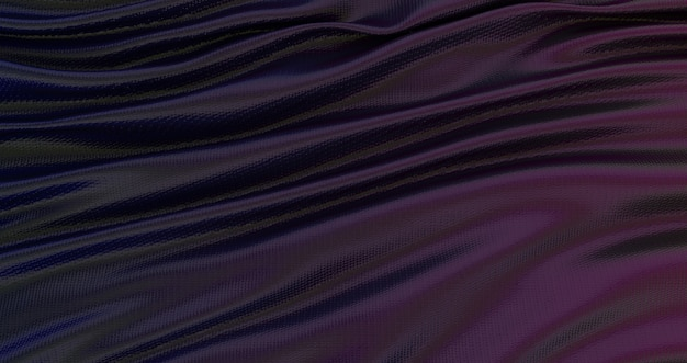 Gradient blue purple and yellow silk fabric background