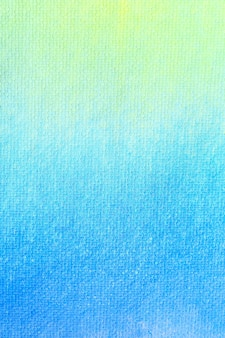 Gradient blue yellow and green watercolor background