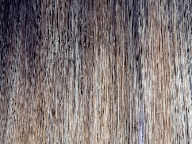 Gradient color on the hair. colored staining of the hair.