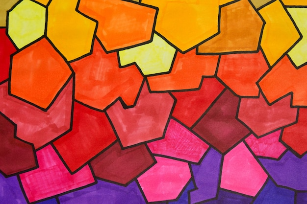 Gradient colorful background abstract marker texture