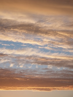 Gradient of the evening sky. colorful cloudy sky at sunset.