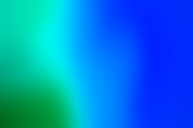 Gradient of green and blue