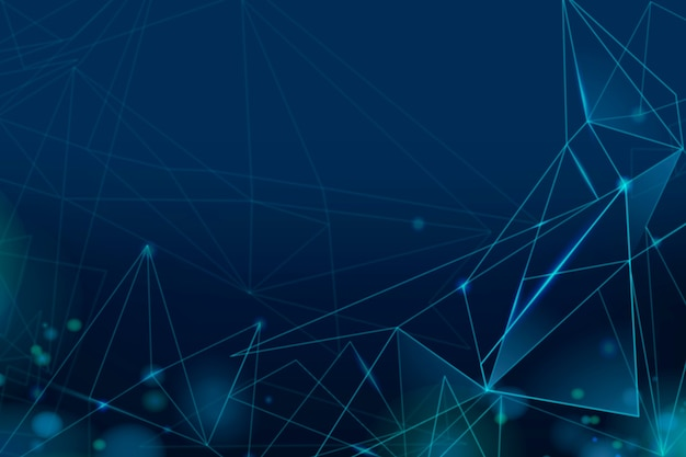 Градиент темно-синий цифровой сетки обои